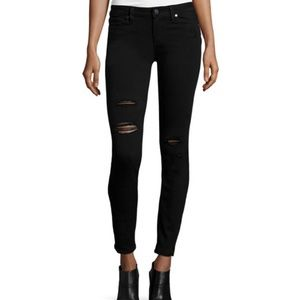 Paige Denim Jeans Verdugo Distressed Black